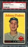 1958 Topps Baseball #120 Johnny Podres PSA 8 (NM-MT) *3402
