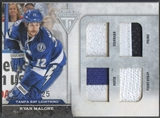 2011/12 Panini Titanium #42 Ryan Malone Quad Memorabilia Jersey Patch Fight Strap #23/25