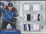 2011/12 Panini Titanium #12 Paul Stastny Six Star Memorabilia Jersey Patch Fight Strap #18/25