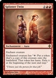 Magic the Gathering Rise of the Eldrazi Single Splinter Twin UNPLAYED (NM/MT)