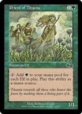 Magic the Gathering Urza's Saga Single Priest of Titania MODERATE PLAY (VG/EX)