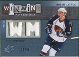 2009/10 Upper Deck SPx Winning Materials Spectrum Patches #WMBL Bryan Little /50