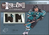 2009/10 Upper Deck SPx Winning Materials Spectrum Patches #WMJC Jonathan Cheechoo /50