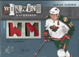2009/10 Upper Deck SPx Winning Materials Spectrum Patches #WMMG Marian Gaborik /50