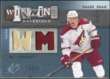 2009/10 Upper Deck SPx Winning Materials Spectrum Patches #WMSD Shane Doan /50