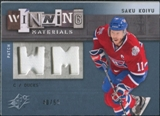 2009/10 Upper Deck SPx Winning Materials Spectrum Patches #WMSK Saku Koivu /50