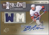 2009/10 Upper Deck SPx Winning Materials Autographs #AWMBS Brent Sutter Autograph /50