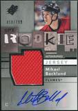 2009/10 Upper Deck SPx #161 Mikael Backlund RC Jersey Autograph /799
