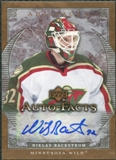 2007/08 Upper Deck Artifacts Autofacts #AFNB Niklas Backstrom Autograph