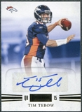 2011 Panini Playbook Gold #41 Tim Tebow Autograph 15/15