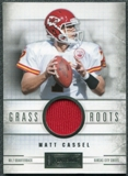 2011 Panini Playbook Grass Roots Materials #28 Matt Cassel /49