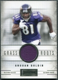 2011 Panini Playbook Grass Roots Materials #34 Anquan Boldin /49