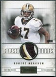 2011 Panini Playbook Grass Roots Materials Prime #6 Robert Meachem /25