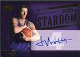 2004/05 Upper Deck Trilogy Signs of Stardom #JV Jackson Vroman Autograph
