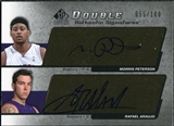 2004/05 Upper Deck SP Signature Edition Signatures Dual #PA Morris Peterson Rafael Araujo Autograph /100