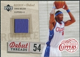 2005/06 Upper Deck Rookie Debut Threads #WI Chris Wilcox