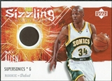 2005/06 Upper Deck Rookie Debut Sizzling Swatches #RA Ray Allen