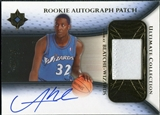 2005/06 Upper Deck Ultimate Collection Rookie Autographs Patches #RPBL Andray Blatche Autograph /25