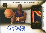 2005/06 Upper Deck Ultimate Collection Rookie Autographs Patches #RPCT Chris Taft Autograph /25