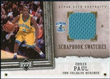 2005/06 Upper Deck UD Portraits Scrapbook Swatches #CP Chris Paul RC Jersey