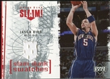 2005/06 Upper Deck Slam Dunk Swatches #JK Jason Kidd