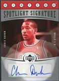 2006/07 Upper Deck Ovation Spotlight Signature #CD Chris Duhon Autograph