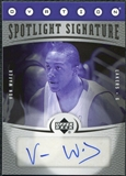 2006/07 Upper Deck Ovation Spotlight Signature #VW Von Wafer Autograph