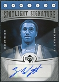 2006/07 Upper Deck Ovation Spotlight Signature #WR Bracey Wright Autograph