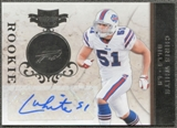 2011 Panini Plates and Patches Signatures Silver #194 Chris White Autograph /50