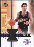 2003/04 Upper Deck Standing O Swatches #JSPH John Stockton