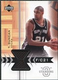 2003/04 Upper Deck Standing O Swatches #TDPH Tim Duncan