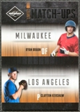 2011 Panini Limited Match-Ups #5 Clayton Kershaw/Ryan Braun /199