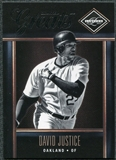 2011 Panini Limited Greats #19 David Justice /299