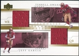 2001 Upper Deck Teammates Jerseys #GOT Jeff Garcia/Terrell Owens