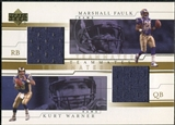 2001 Upper Deck Teammates Jerseys #WFT Kurt Warner Marshall Faulk