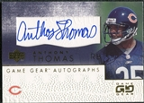 2001 Upper Deck UD Game Gear Autographs #ATGS Anthony Thomas Autograph