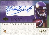 2001 Upper Deck UD Game Gear Autographs #MBGS Michael Bennett Autograph