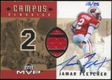 2001 Upper Deck Campus Classics Game Jerseys Autographs #CCSJF Jamar Fletcher /25