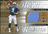 2001 Upper Deck Legends Memorable Materials #MMSM Steve McNair