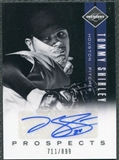 2011 Panini Limited Prospects Signatures #16 Tommy Shirley Autograph /899