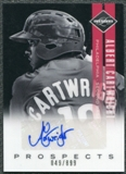 2011 Panini Limited Prospects Signatures #19 Albert Cartwright Autograph /899