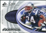 2004 Upper Deck SP Game Used Edition Authentic Fabric #AFTL Ty Law