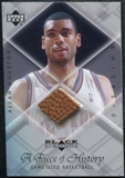 1999/00 Upper Deck Black Diamond A Piece of History #AH Allan Houston H/R