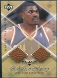 1999/00 Upper Deck Black Diamond A Piece of History Double #HO Hakeem Olajuwon H/R
