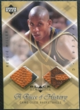 1999/00 Upper Deck Black Diamond A Piece of History Double #RM Reggie Miller H