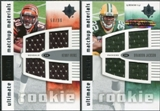 2007 Upper Deck Ultimate Collection Rookie Materials Matchup #IJ Kenny Irons/Brandon Jackson /99