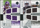 2007 Upper Deck Ultimate Collection Rookie Materials Matchup #RH Sidney Rice/Johnnie Lee Higgins /99