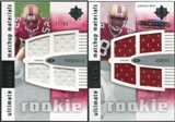 2007 Upper Deck Ultimate Collection Rookie Materials Matchup #WH Patrick Willis/Jason Hill /99