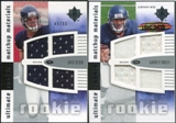 2007 Upper Deck Ultimate Collection Rookie Materials Matchup #WO Greg Olsen/Garrett Wolfe /99