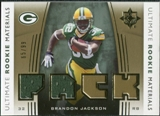2007 Upper Deck Ultimate Collection Rookie Materials Gold #URMBJ Brandon Jackson /99